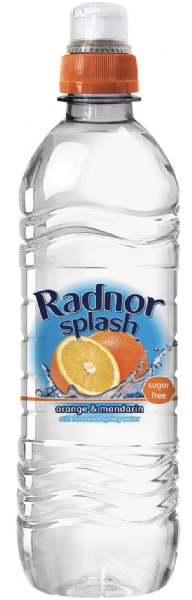 Radnor Splash Orange & Mandarin Flavoured Water 24x500ml